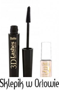 DELIA Maskara New Look 3D Lashes + lakier GRATIS