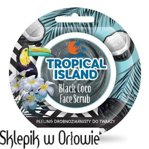 TROPICAL ISLAND Black Coco Peeling drobnoziarnisty do twarzy MARION