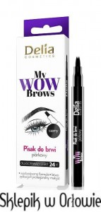 DELIA Piórkowy pisak do brwi My Wow Brows
