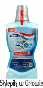 Aquafresh All In One Protection Fresh Mint Płyn do płukania jamy ustnej 500ml